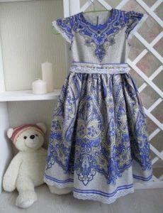 Платье для дочки (курс Натальи Бодиной)